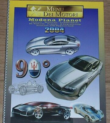 Book magazine Menu dei motori 2004, Italian cars