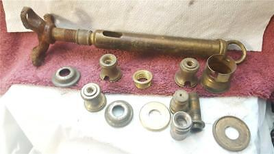 lot of vintage lamp parts ceiling bracket hook spacers nipple brass and other