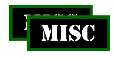 "MISC Ammo Can Labels for Ammunition Case 3.5"" x 1.50"" stickers decals 2PACK"