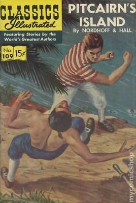Classics Illustrated 109 Pitcairn's Island #4 1967 VG- 3.5 Stock Image Low Grade