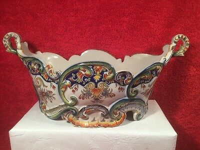 Gorgeous Antique French Faience Hand Painted Jardiniere Planter c.1800's, ff651