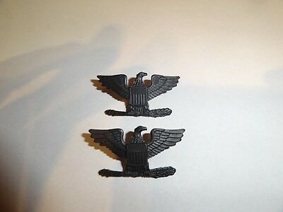 Us Military Insignia Set Of 2 Marine Corps Rank For Shoulder Full Colonel Black