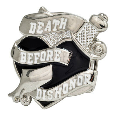 DEATH BEFORE DISHONOR Belt Buckle Heart Black Military Unique Metal New Hip Cool