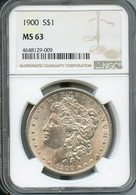 1900 Morgan Silver Dollar NGC MS63 (009)