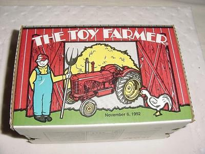 Toy Farmer Massey 55 Diesel Western 1992 National Farm Toy Show 11-6-92 w/ LOA
