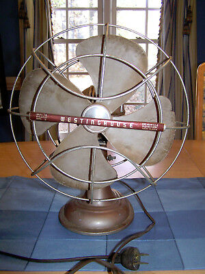 Antique Industrial Steampunk Art Deco Westinghouse Oscillating Fan To Refurbish