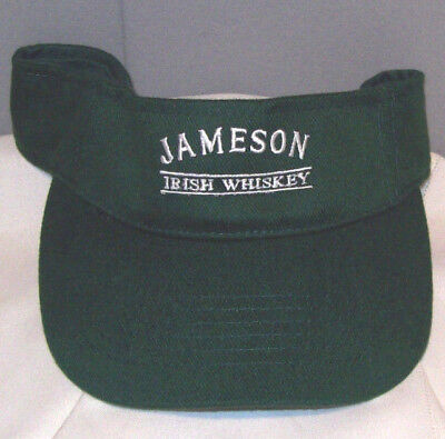 Jameson IRISH WHISKEY Embroidered Green Visor Cap One Size fits Most by Headmost