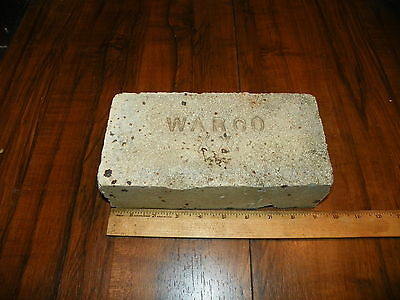 Vintage WARCO XX Fire Clay Brick                                               !