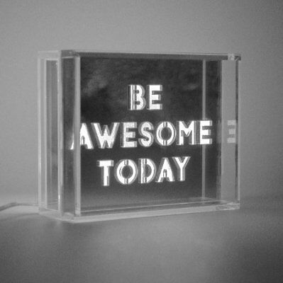 Locomocean MINI LED LIGHT BOX White Shine Bright BE AWESOME TODAY