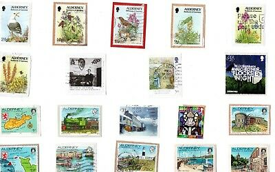 A Lovely Mix Of Mostly Recent Commemorative Stamps From Alderney