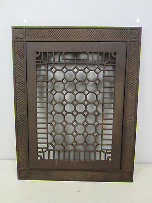 Vintage Cast Iron Honeycomb Floor Grate with Frame  ASG#29