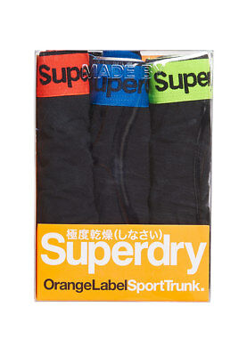 Superdry Three Pack Boxer Shorts Men Sports Trunk Triple Pack Black Black