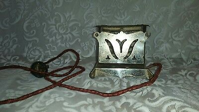 Excel Electric Toaster Toy Mini Vintage 1920's Child's Play Set Cloth Cord