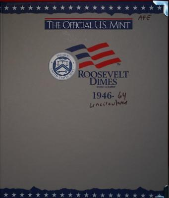 Uncirculated 1946-1964 Silver Roosevelt Dimes Book Free Shipping