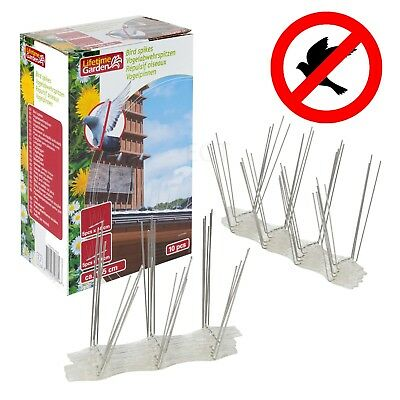 10 Pc Bird Pigeon Fence Wall Steel Spikes Pest Control Safety Defender Perch NEW