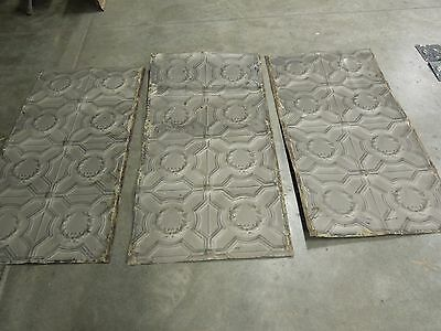 "Old Antique ( Metal ) tin ceiling tile (3) 48""x24"" FULL SHEETS,,, more available"