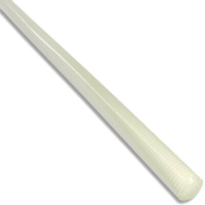 300mm NYLON PLASTIC THREADED ROD BAR STUDDING ALLTHREAD M3 M4 M5 M6 M8 M10 M12