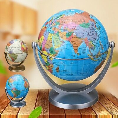 360° Rotating World Map Globe Geography Student Teaching Table Ornament Gift AU