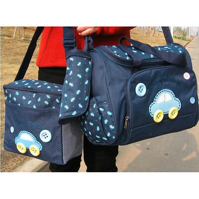 4Pcs Mummy Changing Bag Baby Nappy Diaper Maternity Bag Wipe Clean Nappies-