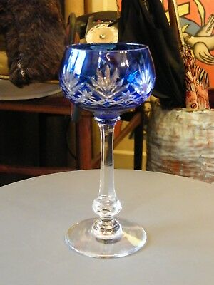 Glass Roemer crystal St Louis Model Massenet Blue