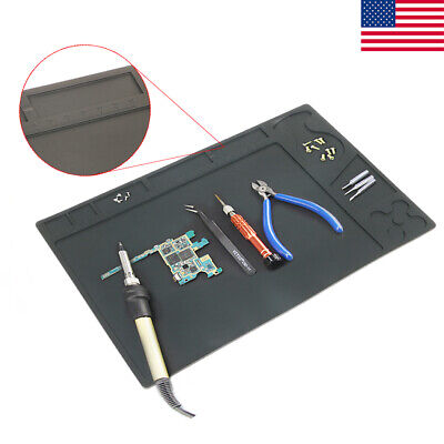 Anti Static Heat Insulation Silicon Pad Desk Solder Work Mat Tablet Phone Repair