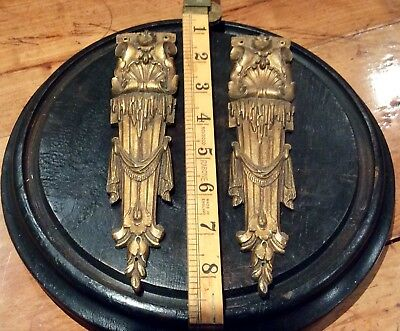 Pair Of Antique French Gilt Metal Ormolu Furniture Mounts