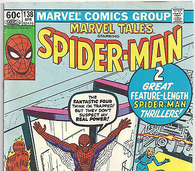 The AMAZING SPIDER-MAN #1 Reprint in Marvel Tales #138 from Apr. 1982 in VG NS