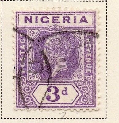 Nigeria 1921-33 Early Issue Fine Used 3d. 215302