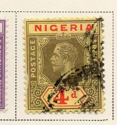 Nigeria 1921-33 Early Issue Fine Used 4d. 215295