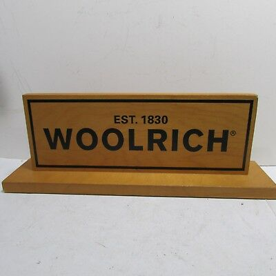 Vintage Wood Woolrich Clothing Advertising Sign Counter Store Display VERY NICE