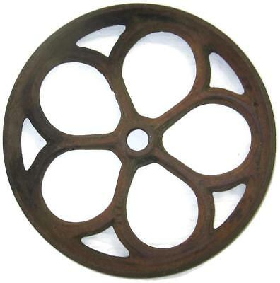 Cast Iron 12.5 In. Spoked Wheel Factory Coffee Table Cart - Old Industrial Part