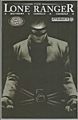 The Lone Ranger #10 Comic Collector Live Black And White Variant Cvr FREE S/H