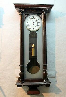 Antique Wall-Clock Regulator 19th century Vienna Clock 1 Weight *height:123 cm