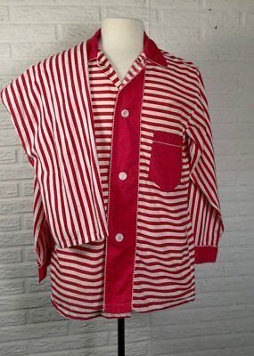 Vintage Men's Pajama Set PJs Red Candy Stripe Sanforized Spiegel Sz M Fits 40""