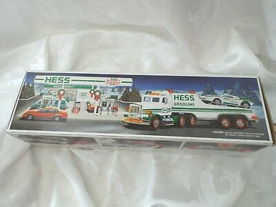 Vintage 1991 Hess Toy Truck and Racer NIB