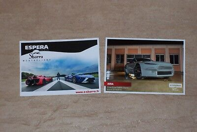 2015 Sbarro Aria and Montbeliard set of cards postcard