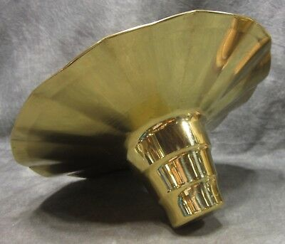 """NEW OLD STOCK 10"""" Solid Brass Petticoat Shade for Lamp or Light Fixture"""