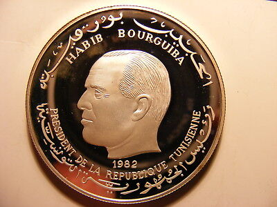 Tunisia 5 Dinars, 1982, International Year of the Child, Silver Proof, SCARCE