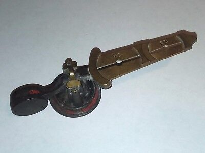 Antique Cast Iron & Brass Counterfeit Silver / Gold Coin Scale Weight Detector