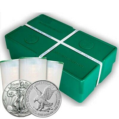 2019 1 oz American Silver Eagle Sealed Monster Box 500 Coins BU