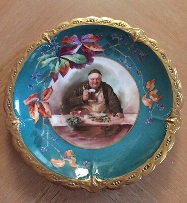Beautiful B&H Limoges Friar Tuck Portrait Plate Charger