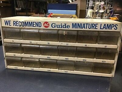 AC Delco Guide Lamps Vintage Auto Parts Gas Service Station Cabinet With Drawers