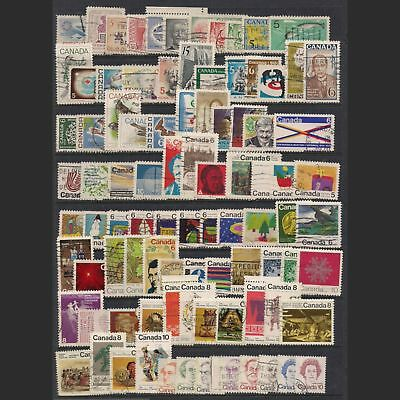 CANADA: lot of ninety used stamps [6]
