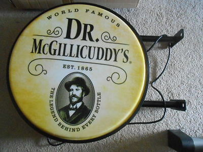 Doctor dr McGillicuddy's Pub Sign - Lights up 2-sided New! NEAT! 25 inches