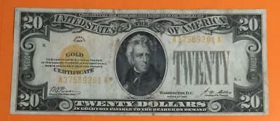 """1928 $20 US """"GOLD Certificate"""" High in Demand! X201 Old US Paper Currency"""