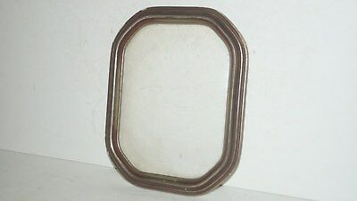 Vintage Wood Picture Frame With Concave Glass Front