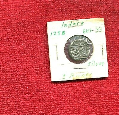 India State Indore Silver 1 Rupee Dump Coin 8.95