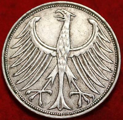 1961 Germany 5 Mark Silver Foreign Coin
