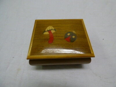 Vintage Reuge Wooden Music Jewelry Box Impossible Dream Sorrento Italy