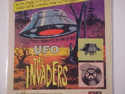 Vintage~Invaders Tv Show Ufo Aurora Plastic Model Kit Toy Art Print Ad~1967 Orig